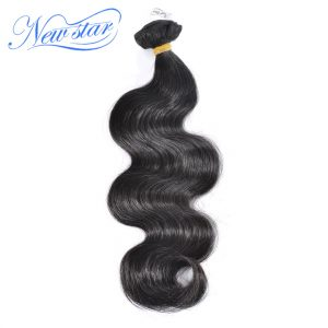 "New Star Virgin Hair Weaving Peruvian Body Wave 1 Piece 100% Unprocessed Human Hair Weft Thick Bundles 10""- 30"" Shipping Free"