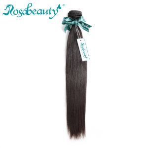 Rosa Beauty Peruvian Virgin Hair Straight 1 Piece 100% Human Hair Weaves Bundles Unprocessed Hair Weft Shipping Free