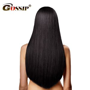 "Gossip Peruvian Straight Hair Bundles 10""-28"" 100% Human Hair Bundles Double Weft Hair Extension 1 Piece Non Remy Hair Weaving"