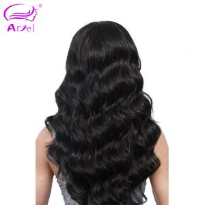 "Ariel Peruvian Body Wave Hair Bundles Non Remy Human Hair 8""-28"" Natural Color Free Shipping Can Be Dyed"