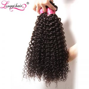"Xuchang Longqi Hair Peruvian Curly Hair Bundles Non-Remy Human Hair Weave 8""-26""  1 Piece Can Be Mixed Length Free Shipping"