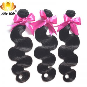 Ali Afee Hair Peruvian Body Wave Bundles 1 Pc 100% Human Hair Bundles Non Remy Hair Extension Can Buy 3/4 Match With Closure