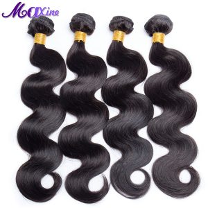 Maxine Hair Product Single Bundle Peruvian Body Wave Human Hair Weaves Non Remy Hair Extension 10-28 inch Natural Black 1B Color