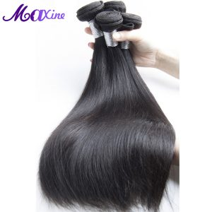 "Maxine Peruvian Straight Hair Weave Bundles 1 Piece 100% Human Hair Weaving 10""~28"" Non Remy Hair Extensions Thick And Full"