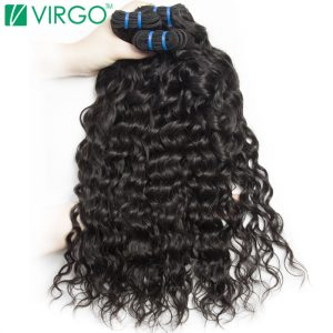Water Wave Bundles Peruvian Human Hair Weave Virgo Hair Company Non Remy Hair Bundle Extensions 1 Piece Won't Lose Pattern