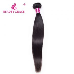 Beauty Grace Peruvian Straight Hair 1 Bundle Natural Color 100% Non-Remy Human Hair Weaving 8-28 Inch