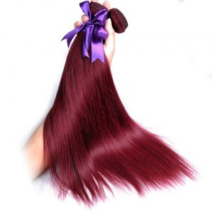 Bold Red 99J Burgundy Peruvian Straight Hair Bundles 100% Human Hair Weave Extension Shining Star Non-Remy Can Buy 3 or 4 Bundle