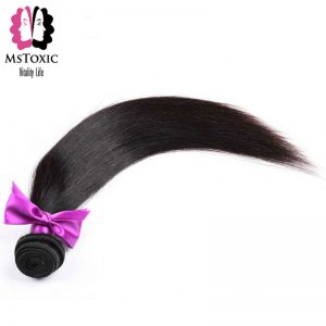 Mstoxic Peruvian Straight Non Remy Hair 1 Bundle Human Hair Weaves 8-28 inch Doudle Weft Free Shipping