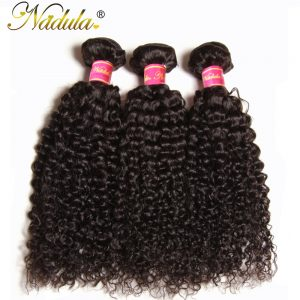 Nadula Hair Peruvian Kinky Curly Non Remy Hair Weave Bundles 100g/pcs Products 100% Human Hair Extensions 8-26INCH Can Be Mixed