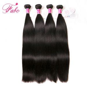 Fabc Hair peruvian hair bundles straight non remy 8-28 inches human hair weave bundles natural black color free shipping 1 piece