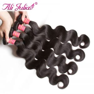 Ali Julia Hair Company Peruvian Body Wave Non Remy Human Hair Bundles 8-30 Inches Bundles Hair Extension Can buy 3 or 4 Bundles