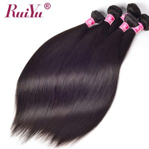 "Human Hair Bundles Straight Peruvian Hair Extensions Can Buy 3 Or 4 Bundles 10""-28"" Non Remy Hair RUIYU Can Be Dyed Ships Free"