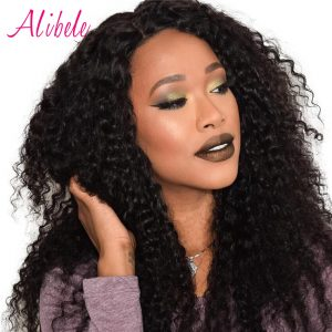 Alibele Malaysian Curly Weave Hair Bundles 100G/Piece Natural Color 100% Human Hair Can Be Dyed Remy Hair Extensions 10~28inch