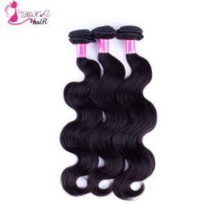 Malaysian Hair Body Wave 100% Human Hair Ms Cat Hair Products Natural Black Remy Hair Weave Bundles Free Shipping