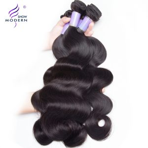Modern Show Malaysian Body Wave Human Hair Weave Bundles Remy Hair Extensions Natural Color 1Pcs 10-28inch Can Buy 3/4 Bundles