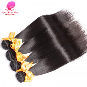 QUEEN BEAUTY HAIR Products Malaysian Remy Hair Straight Human Hair Weave Bundles 1 Piece Natural Black Hair Color Free Shipping