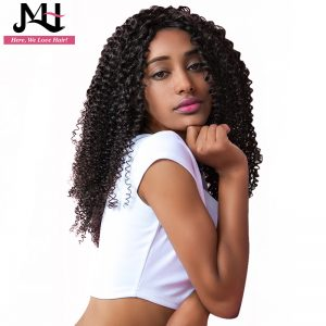 Jvh Malaysian Kinky Curly Hair Weave Human Hair Bundles Natural Color 100% Remy Hair Extensions 16inch-28inch