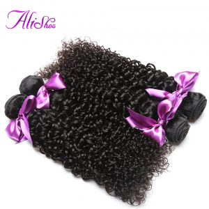 """Alishes Malaysian Curly Hair Bundles 100% Human Hair Weave 1 Piece Only Remy Hair Bundles 10""""-28"""" Mixed Length"""