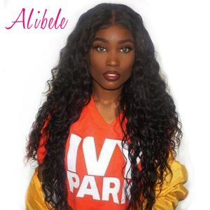 Alibele Malaysian Water Wave 1 Bundle Human Hair Weave Natural Black Full Cutile Kept 10-28inch Remy Hair Bundles Extension 100g