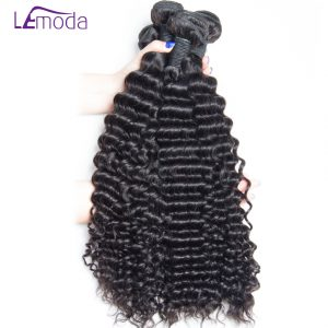 Le Moda Malaysian Curly Hair Human Hair Weave Bundles 1pc/lot Remy Hair Extension Free Shipping