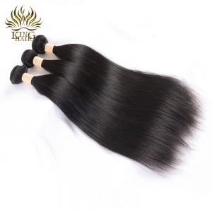 King Straight human hair 100% Malaysian Hair Weave Bundles Remy Hair Weft 1 bundle No Shed No Tangle Can Be Dyed