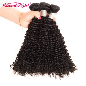 "Wonder girl Malaysian Kinky Curly Weave Human Hair Bundles Remy Hair Eextension 10""-28"" Natural Color 1PC"