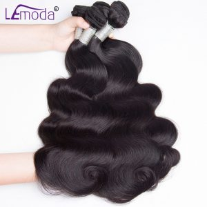 Malaysian Body Wave bundles human hair bundles 100% remy hair bundles Le Moda hair weave natural black 1 pc lot free shipping