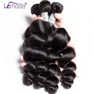 Lemoda Malaysian Loose Wave Hair 1pc Human Hair Weave Bundles Free Shipping Remy Hair Extension Natural Color