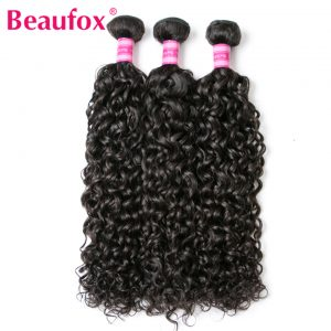 Beaufox Malaysian Water Wave Bundles Remy Human Hair Bundles Extension Can Buy 3 Or 4 Bundles Natural Color Free Shipping
