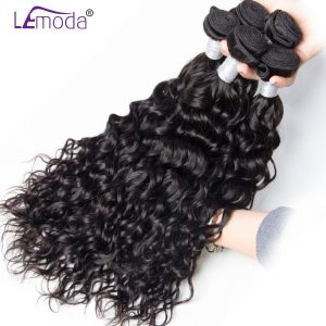 Le Moda Malaysian Water Wave Human Hair Weave Bundles 1 piece Remy Hair Extensions 10-28inch Can be dyed