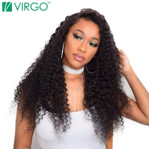 Virgo Hair Company Malaysian Curly Hair Weave Human Hair Bundles 1 Pc 100% Natural Remy Hair Extensions Last Longer No Tangle