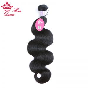 "Queen Hair Malaysian Virgin Hair Body Wave 100% Unprocessed Human Hair Bundles Natural Black 16""-20"" Can be dyed any color"