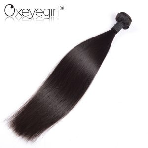 "Oxeye girl Malaysian Virgin Hair Straight 100% Unprocessed Human Hair Weave Bundles 10""-26"" Double Weft Can Be Bleached To 613"