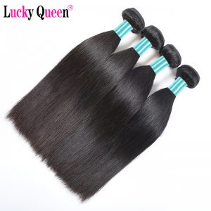 Malaysian Virgin Hair Straight Unprocessed Human Hair Bundles '10-28' Lucky Queen Hair Products 1 PC Can Be Dyed and Bleached