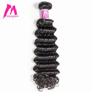 Maxglam Malaysian Virgin Hair Curly Unprocessed Natural Color Human Hair Weave Bundles Free Shipping