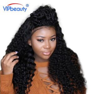 Vipbeauty Malaysian Virgin Hair Deep Curly 100% Human Hair Weave Extension Bundles Unprocessed Natural Color 1 Piece/Lot