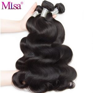 Mi Lisa Malaysian Virgin Hair Body Wave Human Hair Weave Bundles 100% Unprocessed Hair Weft Extensions Natural Color Free Ship