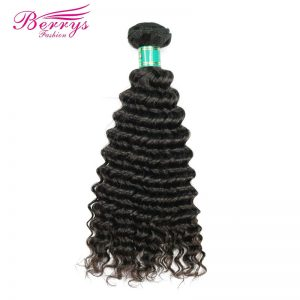 [Berrys Fashion] Malaysia Virgin Hair 100g Deep Wave Hair Extensions 1Pcs/Lot Human Weave Hair Bundles 10-28 inch Free Shipping