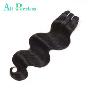 "Ali Peerless Hair Malaysian Body wave Color 1B Virgin Unprocessed 100% human hair 10"" to 28""  One bundle Free Shipping"