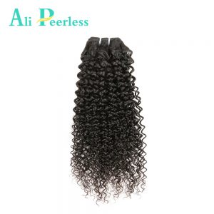 Ali Peerless Hair One Bundle Malaysian Kinky curly Virgin hair Nature Color 100% human hair 10inch to 28inch Free Shipping