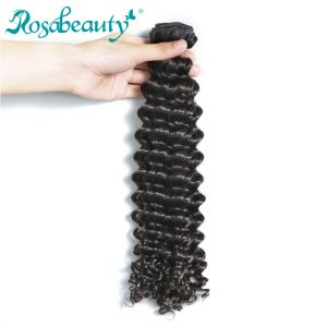 Rosa Beauty Deep Wave Malaysian Virgin Hair 100% Weave Human Hair Bundles Unprocessed Hair Weft Natural Color Free Shipping