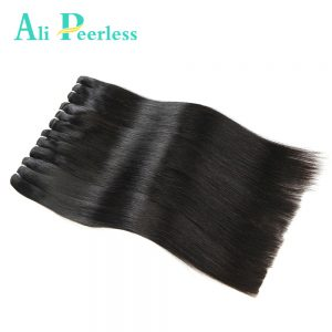"Ali Peerless Hair Malaysian Virgin Staright Hair 100% Unprocessed Human Hair  1 Piece 10"" to 28"" Nature Black Free Shipping"