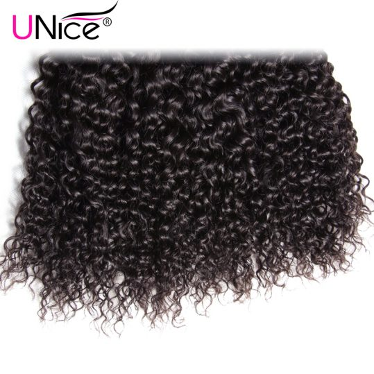 UNICE HAIR Malaysian Curly Weave Human Hair 1 Piece Non-Remy Hair Bundles 100% Natural Color Hair Weaving Free Shipping 8-26inch