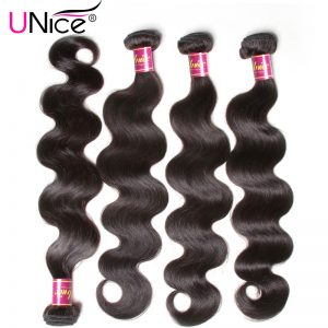UNICE HAIR Malaysian Body Wave Hair Bundles Natural Color 100% Human Hair Weave Non Remy Hair Weft 1 Piece 8-30inch Can Buy 4PCS