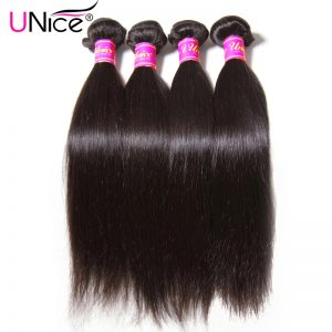 UNICE HAIR Malaysian Straight Hair Extension 8-30inch Natural Human Hair Bundles Non Remy Hair Weave 1 Piece Can Buy 3 or 4 PCS