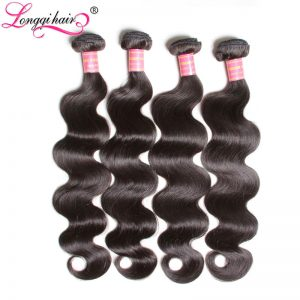 Longqi Hair Malaysian Body Wave Hair Bundle Non Remy Hair 100% Human Hair Weave Natural Color 8 Inch - 30 Inch Ships Free