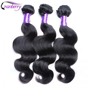 CRANBERRY Hair Store Malaysian Body Wave Human Hair Weave Bundles Natural Color 8-26 inches Non Remy Hair Weaving Double Weft