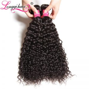 Longqi Hair Malaysian Curly Hair Bundles 1pc 8''-26'' 100% Human Hair Weaving Non Remy Hair Natural Color Can Buy 3 or 4 pcs