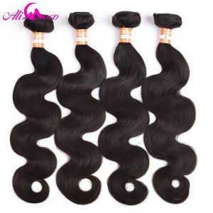 Ali Coco Malaysian Body Wave 1 Piece 100% Human Hair Weave Bundles Non Remy Hair Free Shipping Machine Double Weft