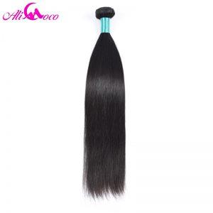"Ali Coco Hair Malaysian Straight Hair ""10-28"" inch 100% Human Hair Non-Remy Hair Natural Color"